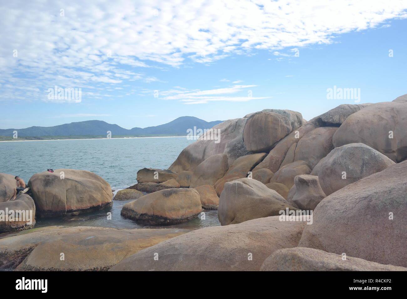 Beira Mar Norte, Florianopolis, Santa Catarina, Centro, no Verão, Summer Time, - Stock Image