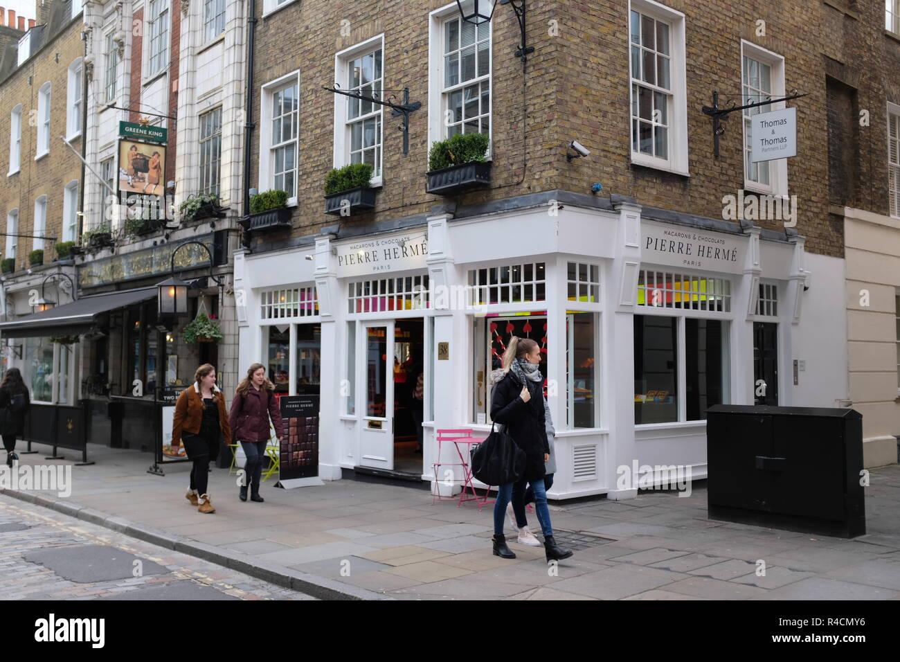 Pierre Herme shop, Covent Garden, London, England, UK - Stock Image