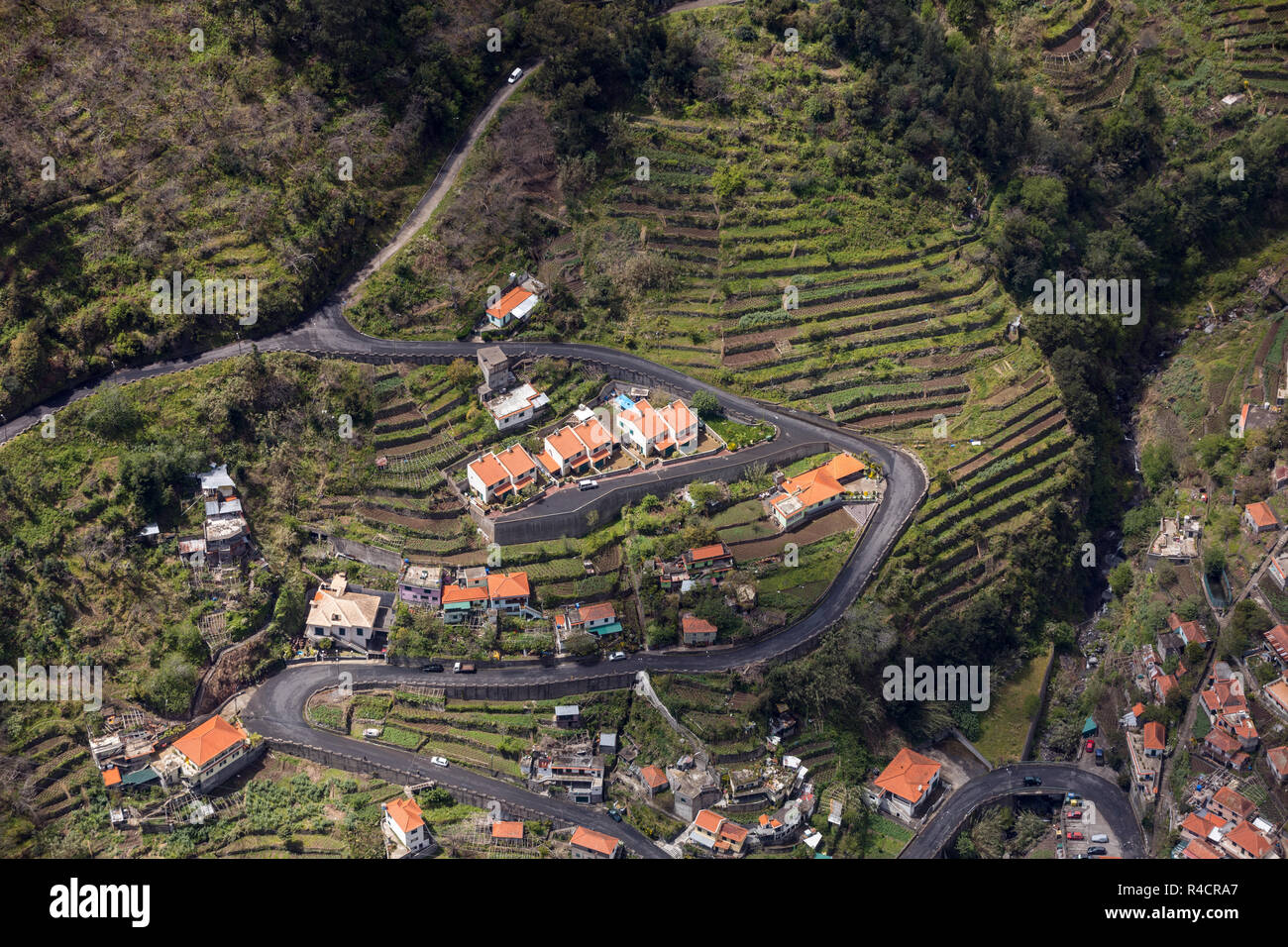 Valley of the Nuns, Curral das Freiras on Madeira Island, Portugal - Stock Image