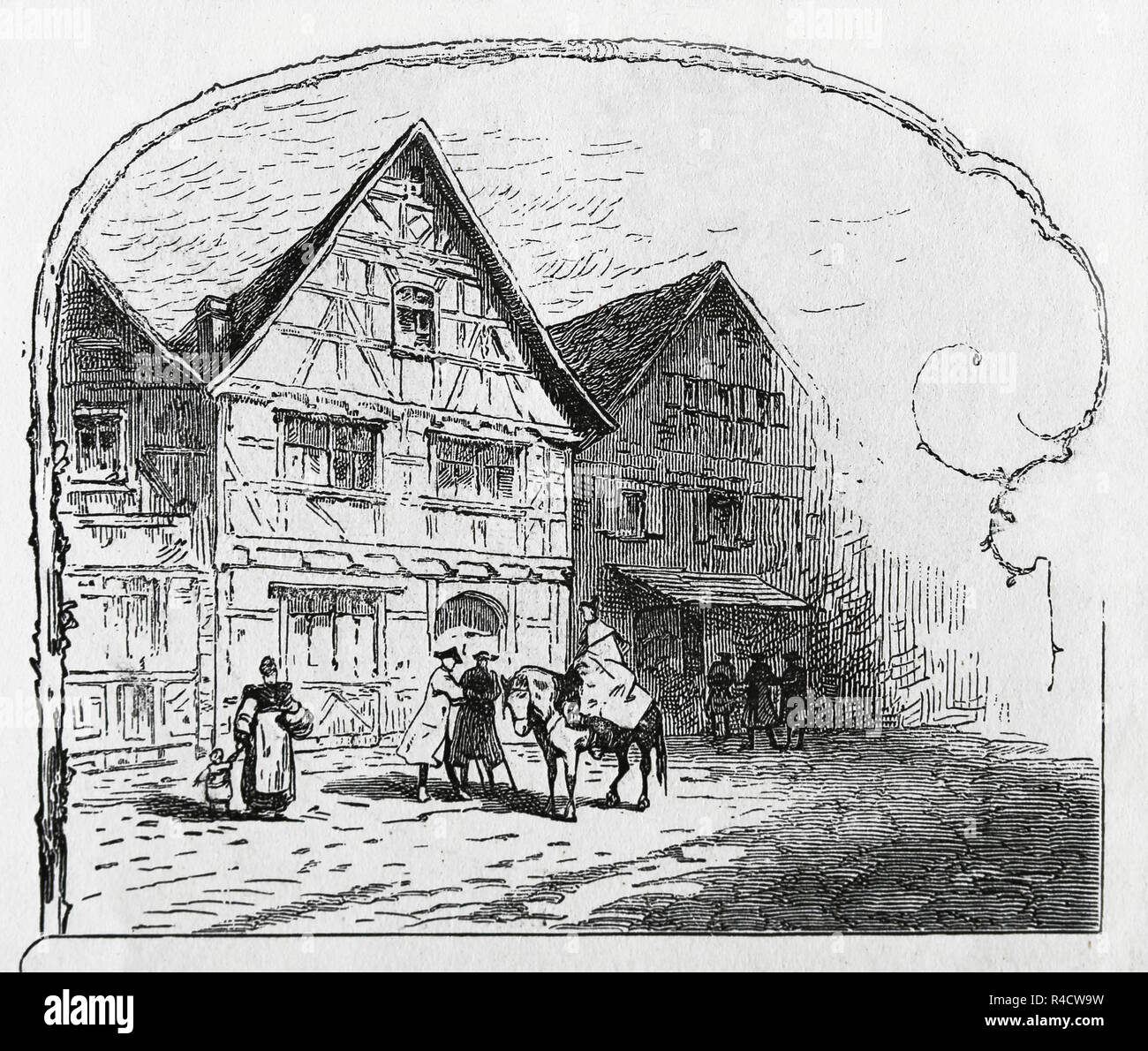 Friedrich Schiller (1759-1805). German Writer. Member of Weimar Classicism. Birthplace in Marbach, Germany. Engravin of Germania, 1882. - Stock Image