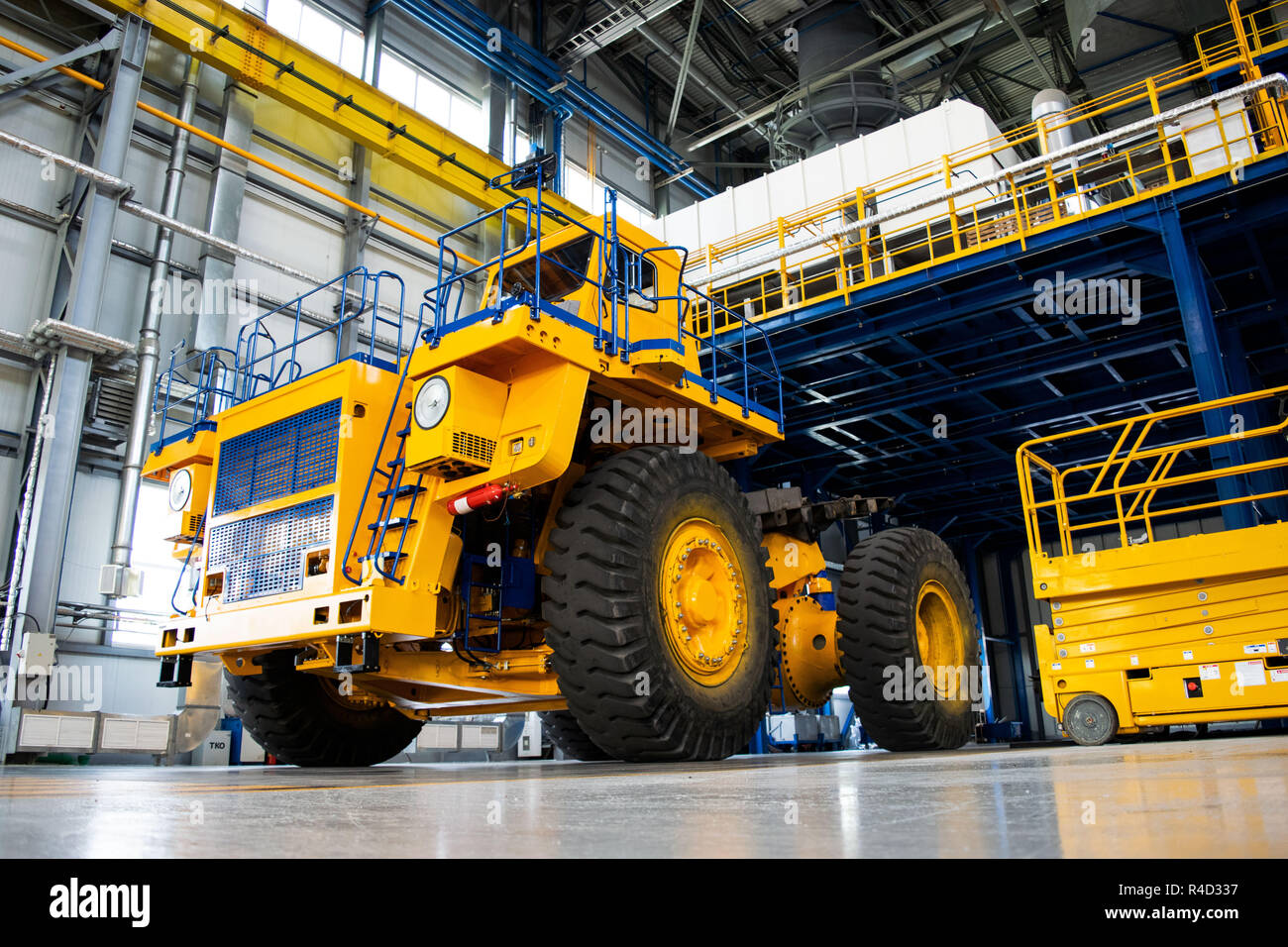 Car And Truck Shop >> Big Mining Truck In The Production Shop Of The Car Factory