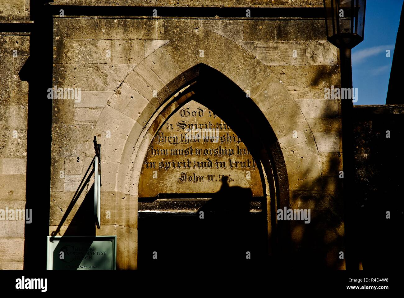 The Chipping Campden Baptist Church in the market town of Chipping Campden, Gloucestershire, UK - Stock Image