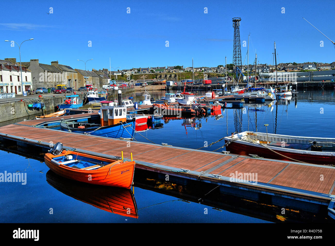 Wick Harbour, Highlands of Scotland UK Stock Photo