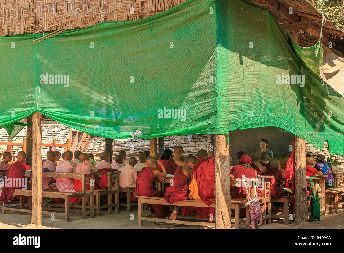 Burmese Monastic School Outdoor Class Room Stock Photo 226486186