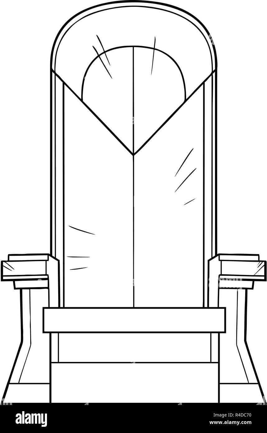 Iron Throne Line Art - Stock Vector