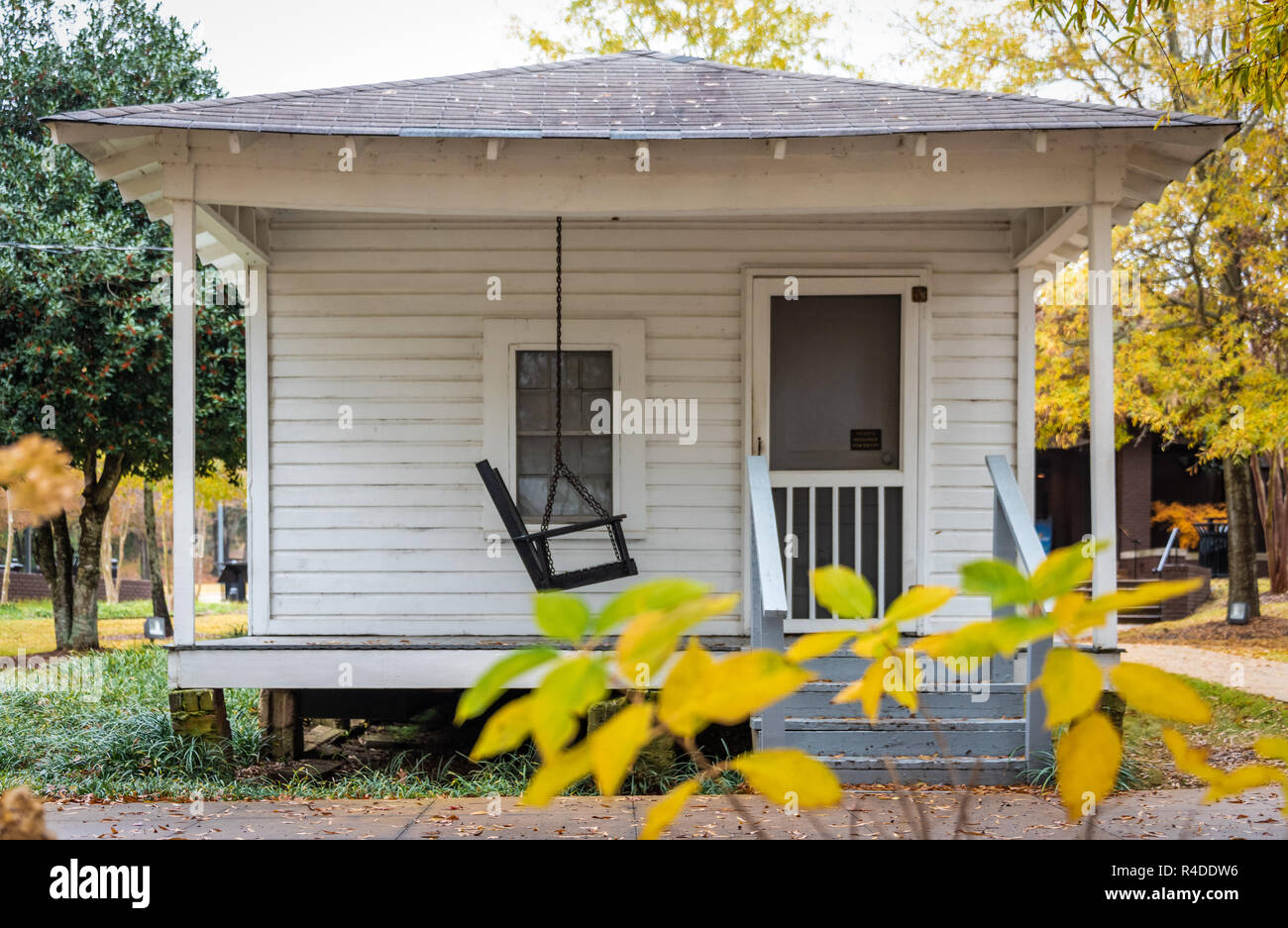 Birthplace of American music icon Elvis Presley in Tupelo, Mississippi. Elvis was born in this house built by his father on January 8, 1935. - Stock Image