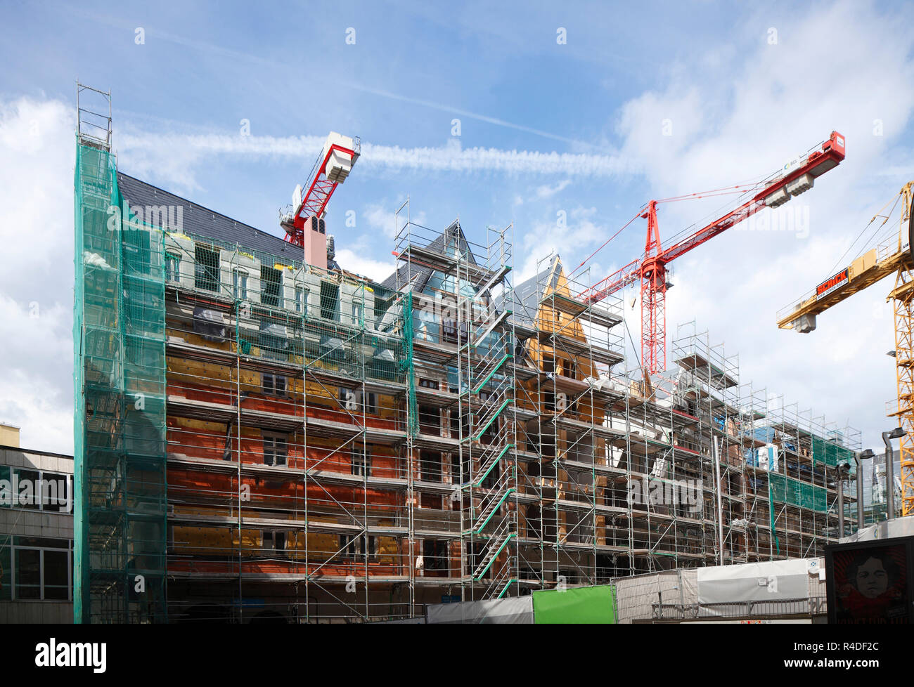 dom roemer construction site - Stock Image