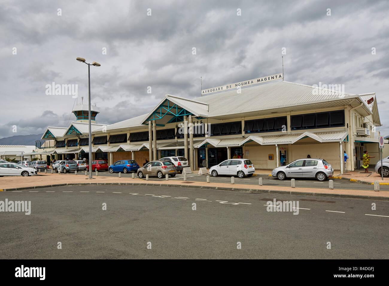 Domestic airport Aerogare de Noumea Magenta airport in Noumea, New Caledonia - Stock Image