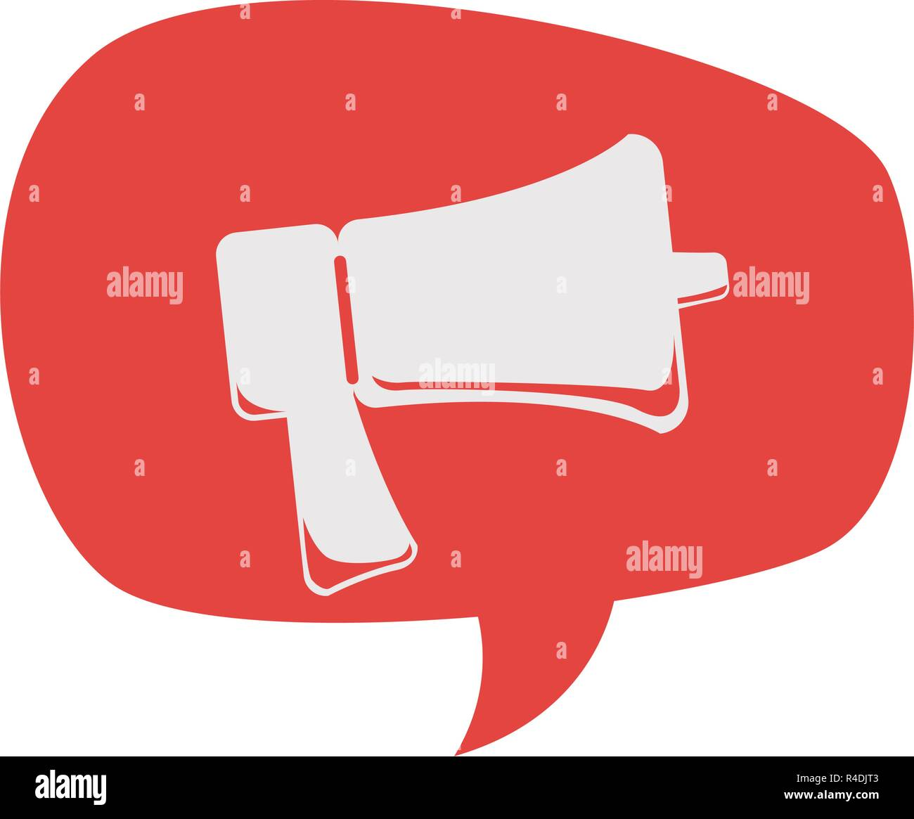 megaphone sound isolated icon vector illustration design - Stock Vector