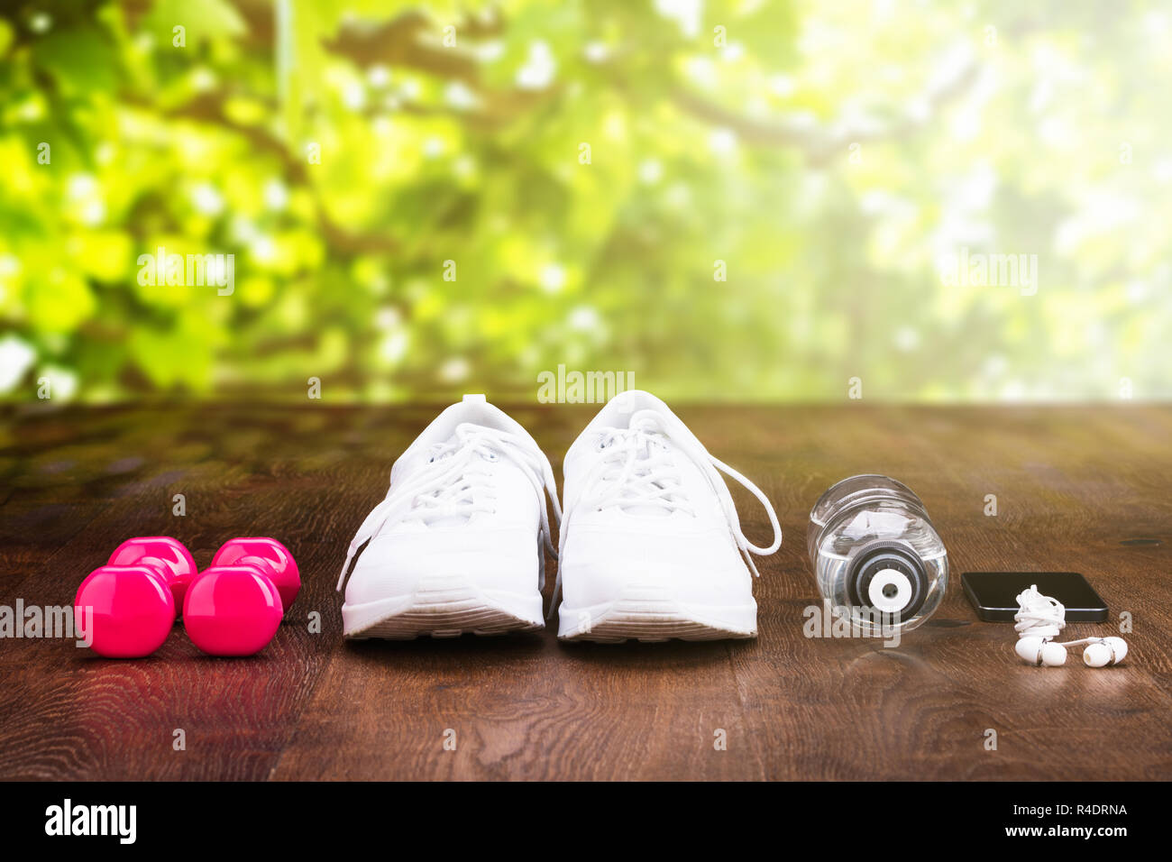 Personal Accessory On Wooden Floor - Stock Image