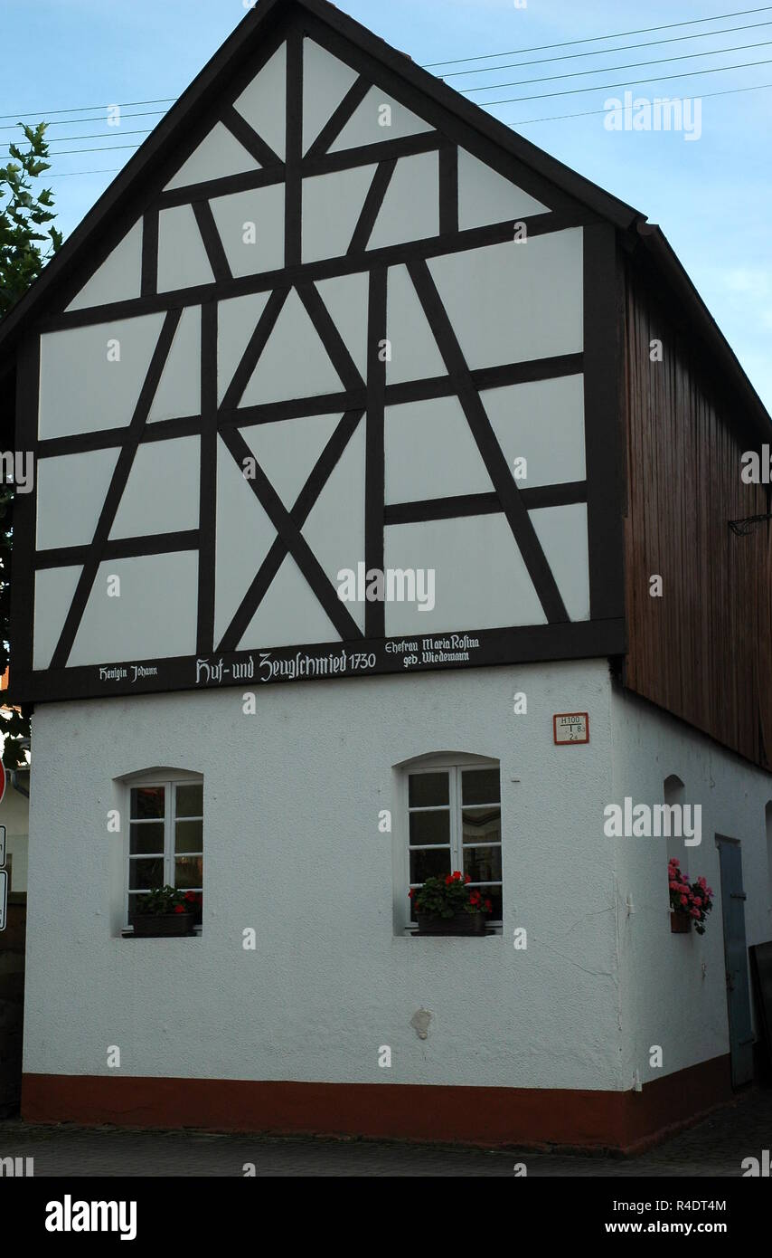 former blacksmith in hatzenbühl Stock Photo