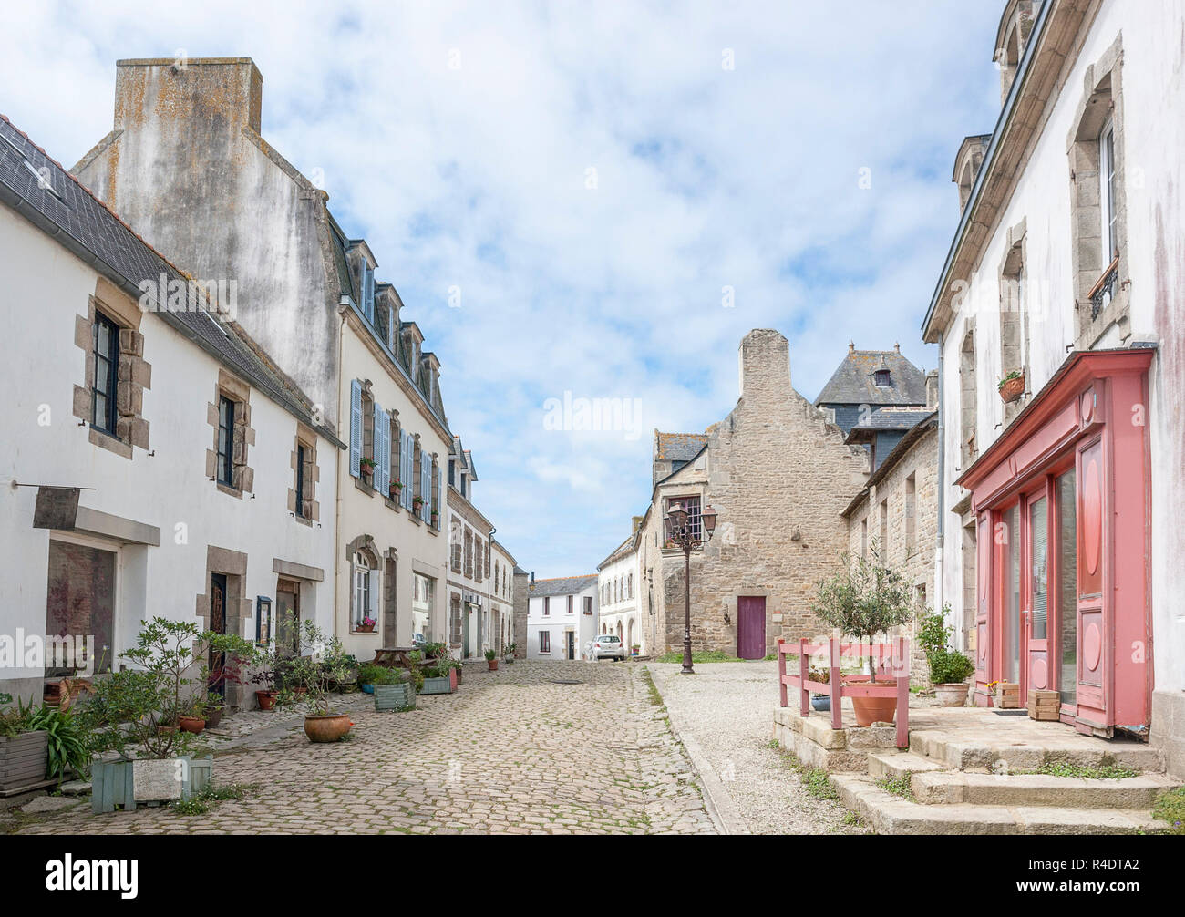pont-croix in brittany - Stock Image
