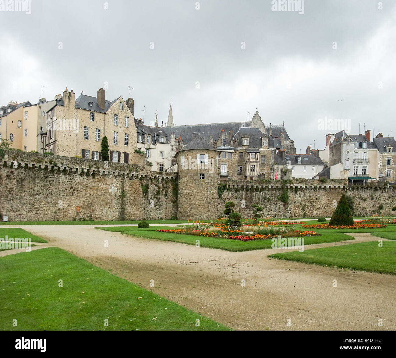 vannes in brittany - Stock Image