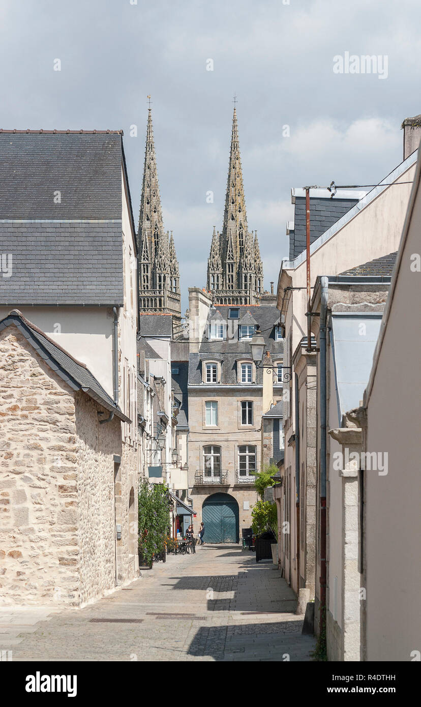 quimper in brittany - Stock Image