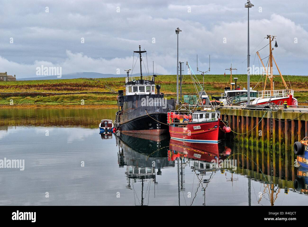 Stromness Harbour, Orkney, Scotland, UK - Stock Image