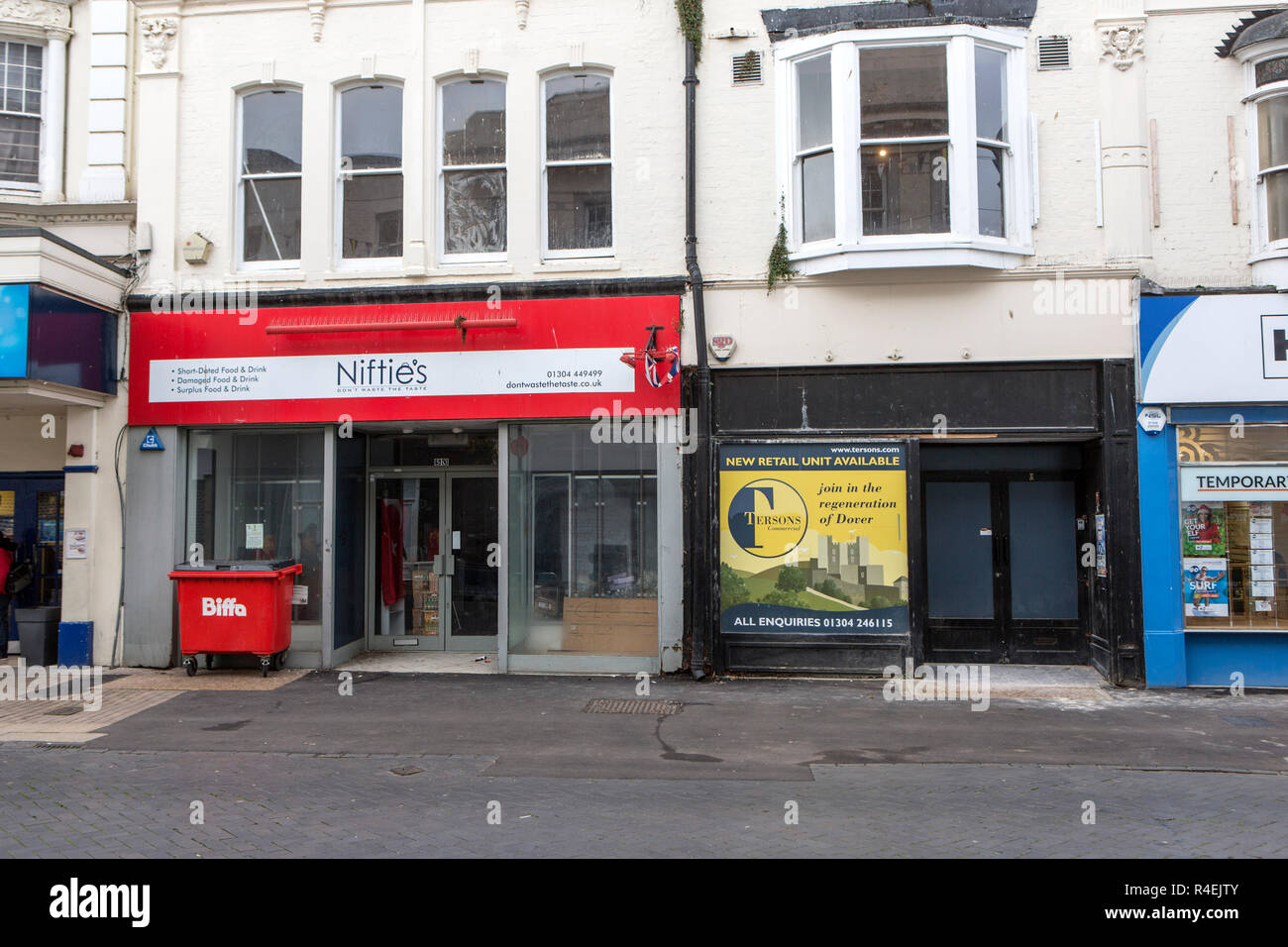 Empty High Street shops - Stock Image