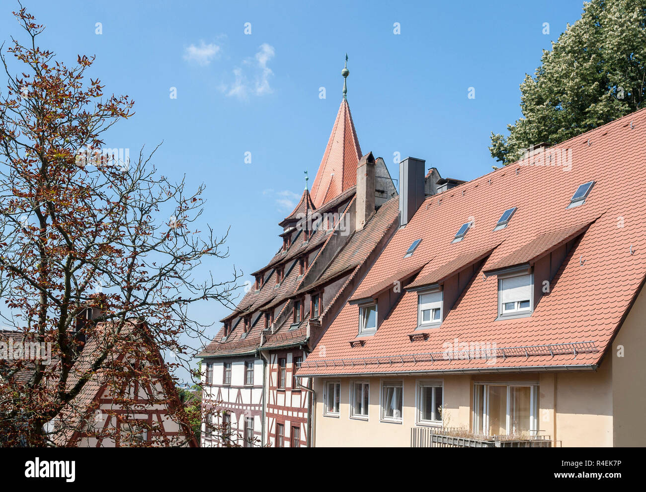 houses in nuremberg - Stock Image