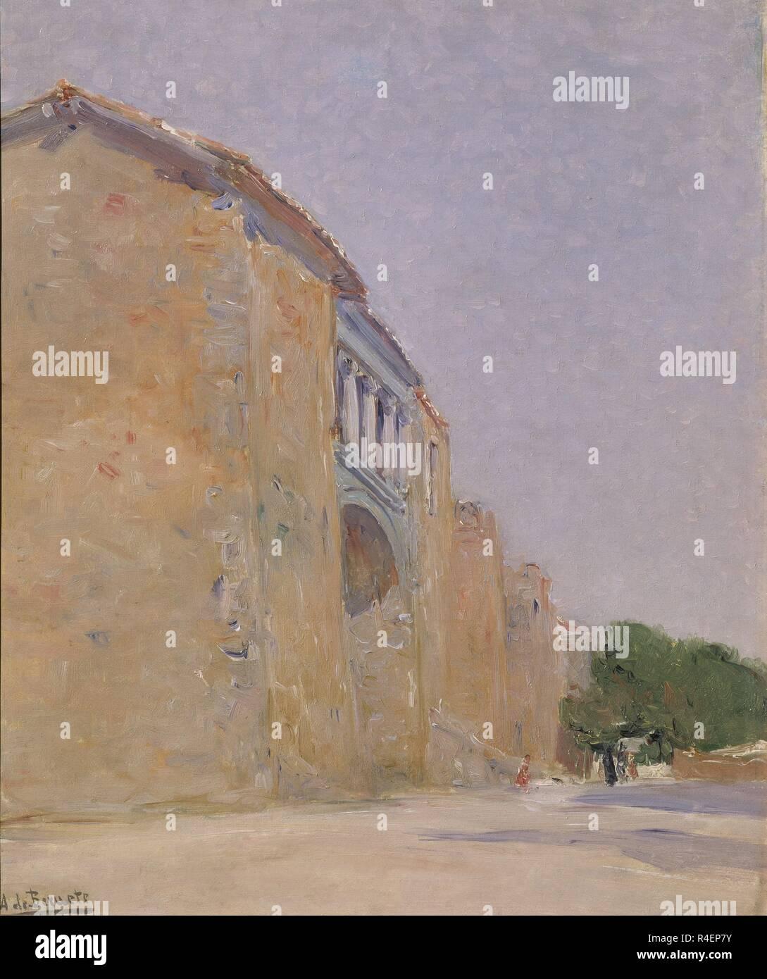 Una Puerta De La Murallas De Avila 1909 Oleo Tela 47 X 39 Cm