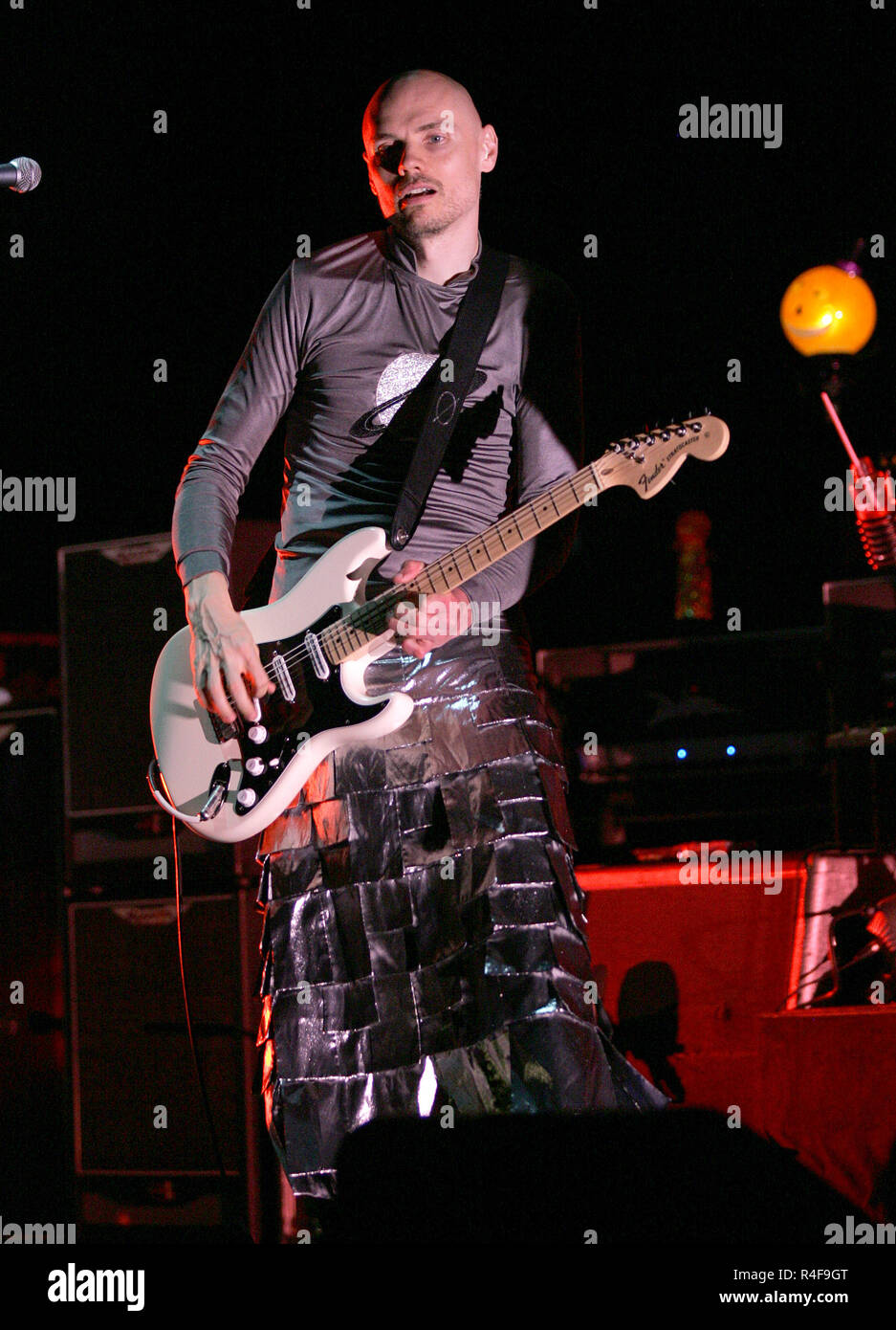 Billy Corgan with the Smashing Pumpkins performs in concert at the Mizner Park Amphitheatre in Boca Raton, Florida on August 21, 2008. - Stock Image