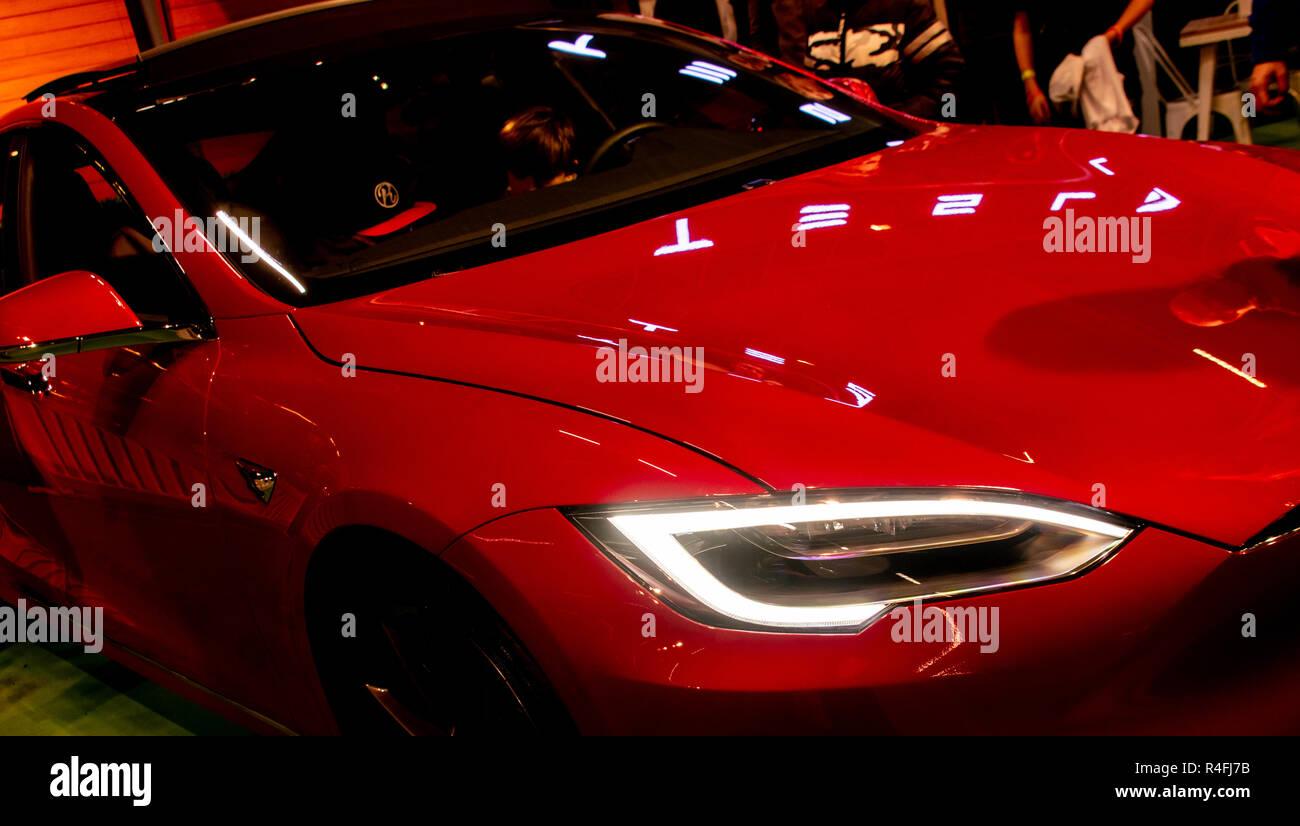 Tesla Car - Stock Image