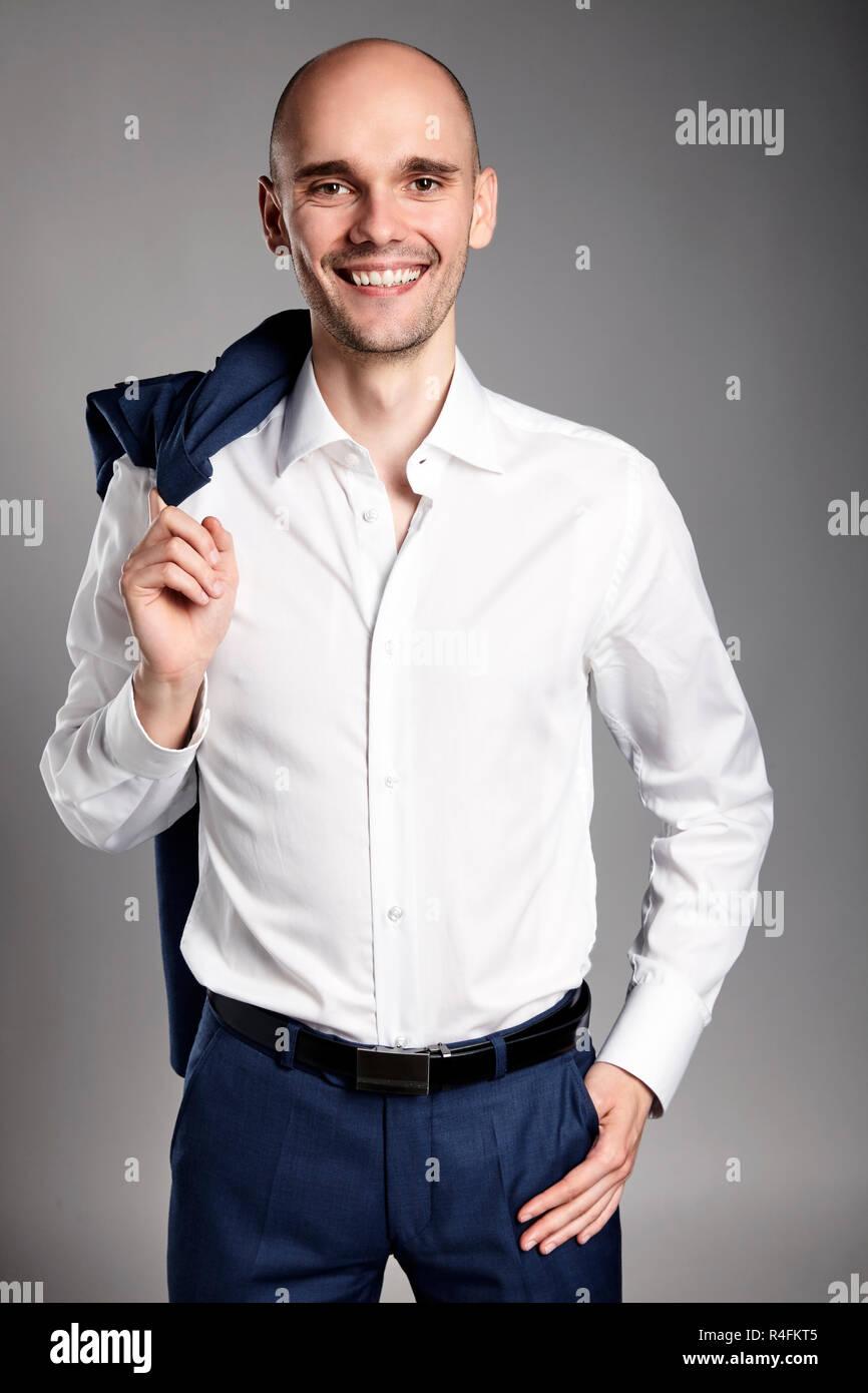 Smiling Confident Man - Stock Image