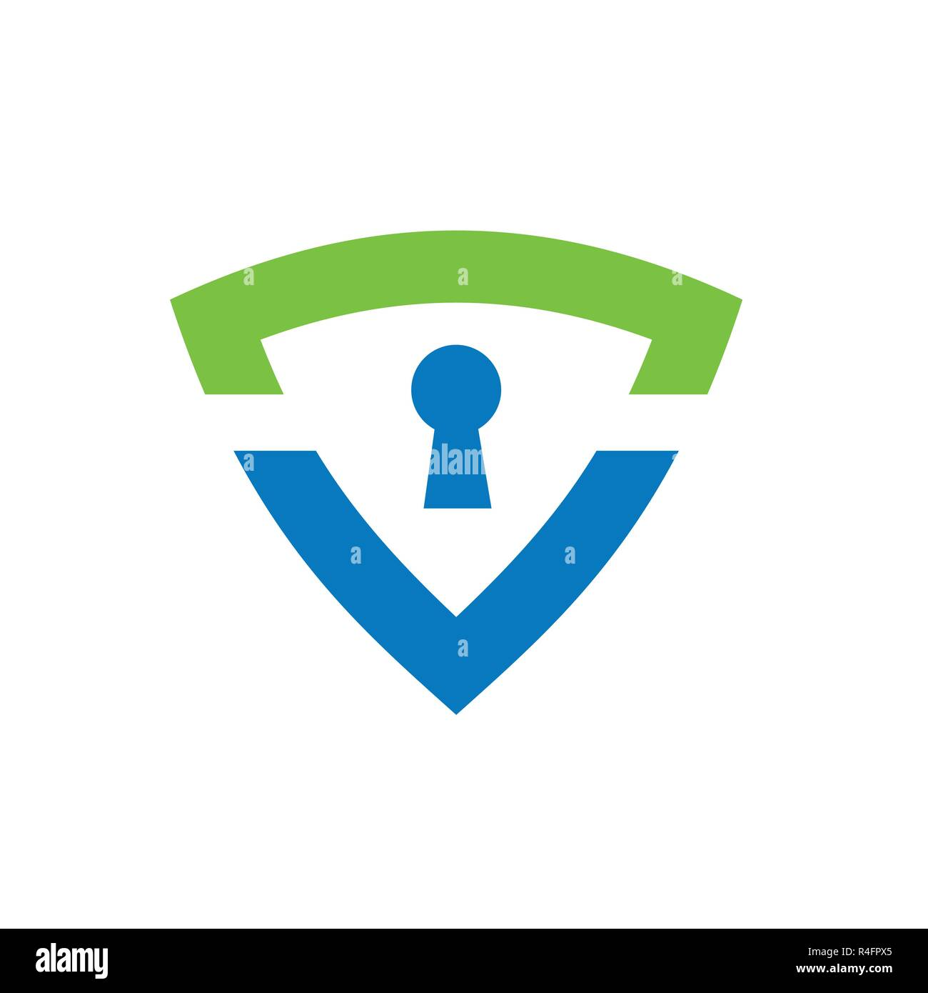 Secure shield icon, logo element  Made from 100% vector