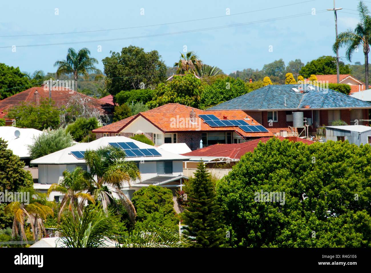 Residential Solar Panels - Stock Image
