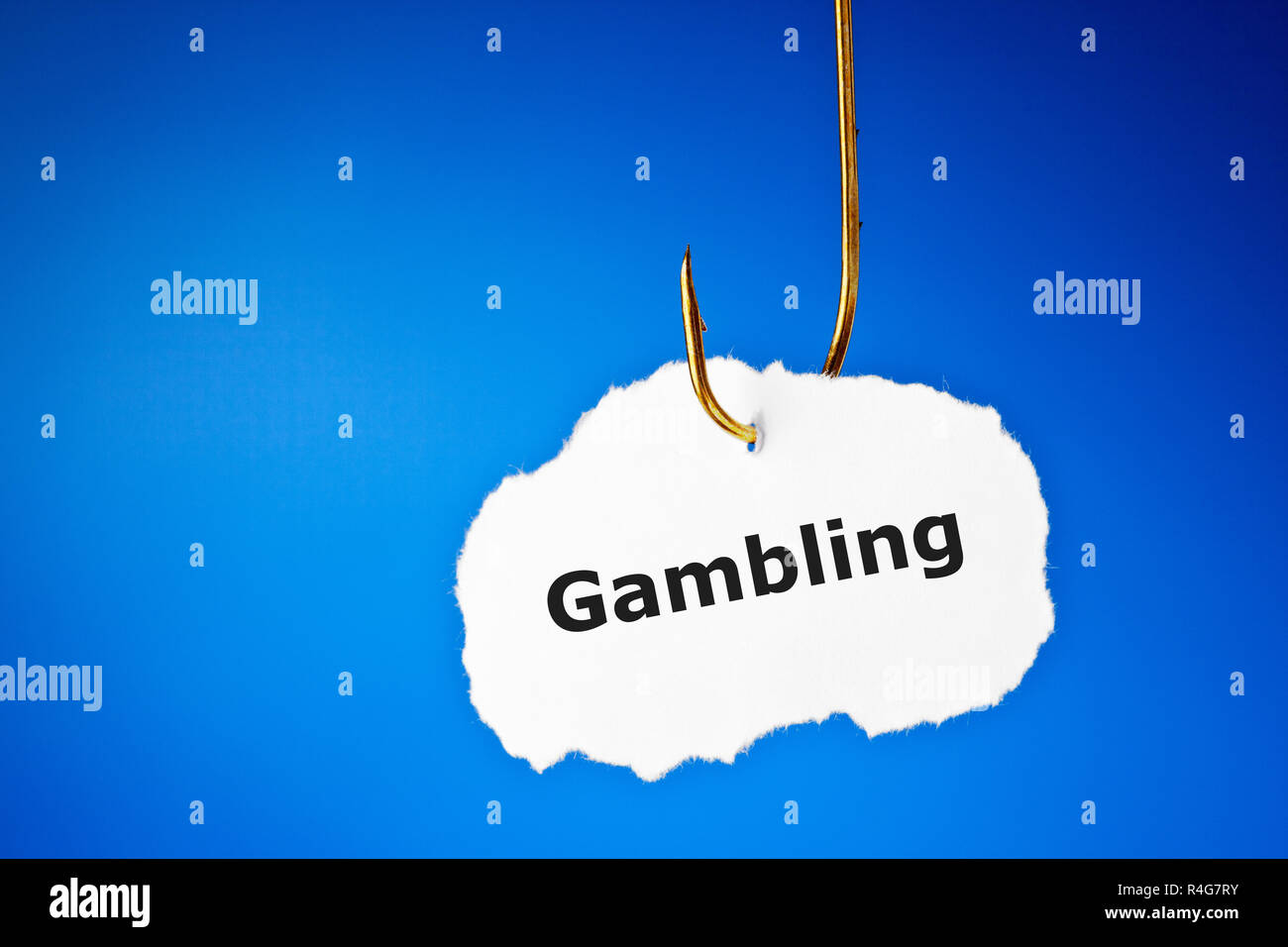 Hooked On Gambling Concept - Stock Image
