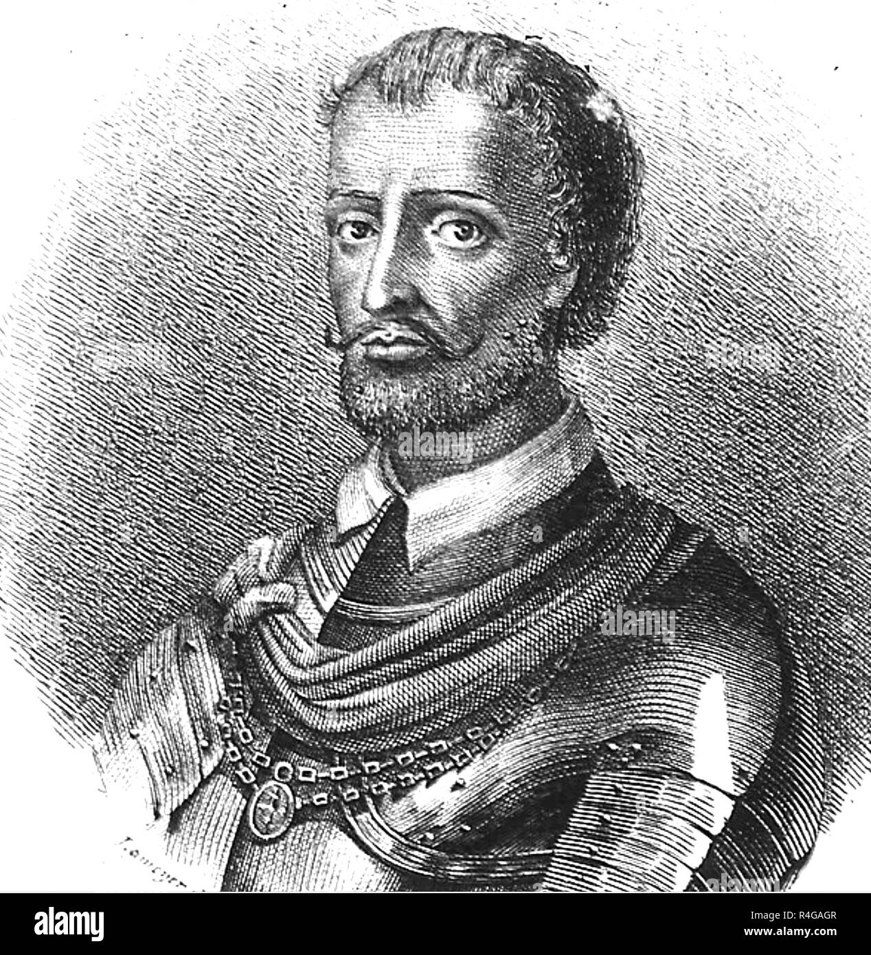 DIEGO HURTADO de MENDOZA (1503-1575) Spanish novelist, diplomat and historian - Stock Image