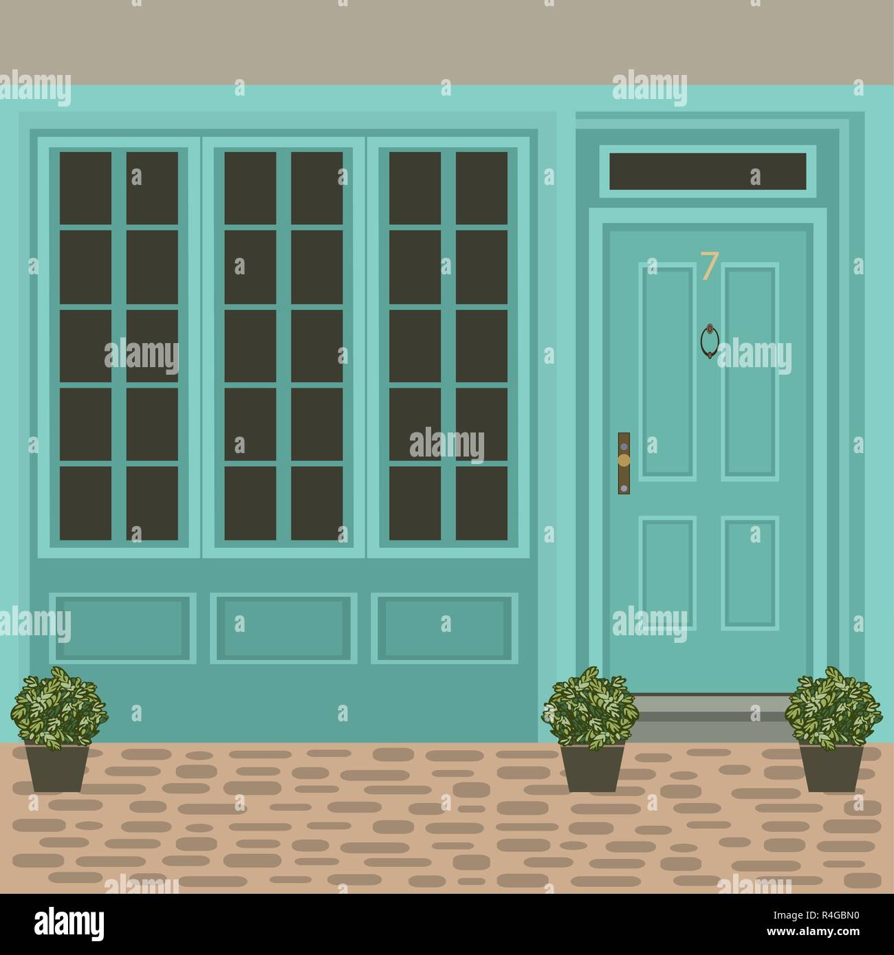 House Door Front With Window Steps And Plants Building Entry Facade Exterior Entrance Design Illustration Vector In Flat Style Stock Vector Image Art Alamy,Architectural Design Phases Percentages
