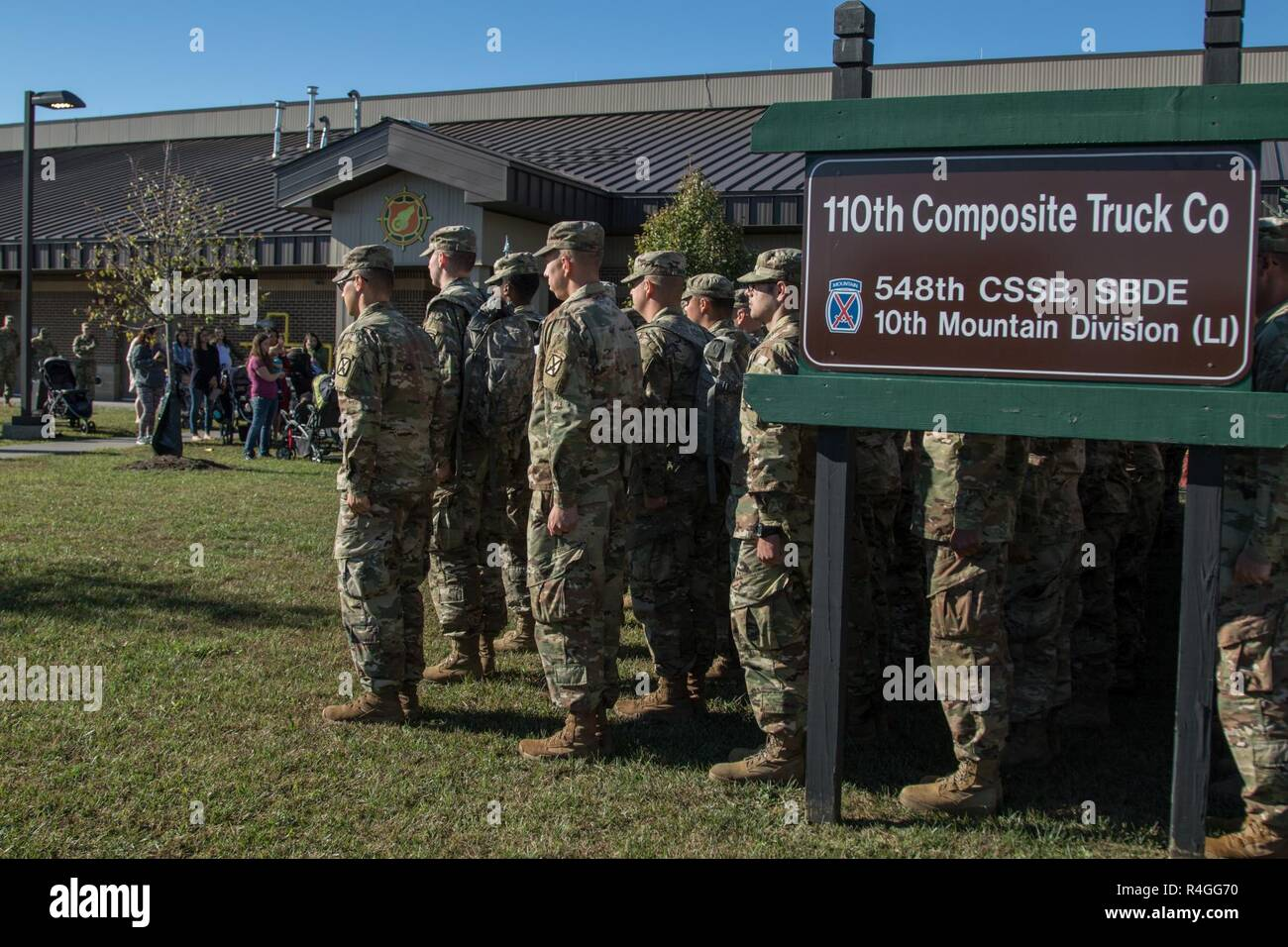 Friends Family Leaders And Fellow Soldiers Came To The 110th Composite Truck Company Headquarters Fort Drum Welcome Home Those Who Went
