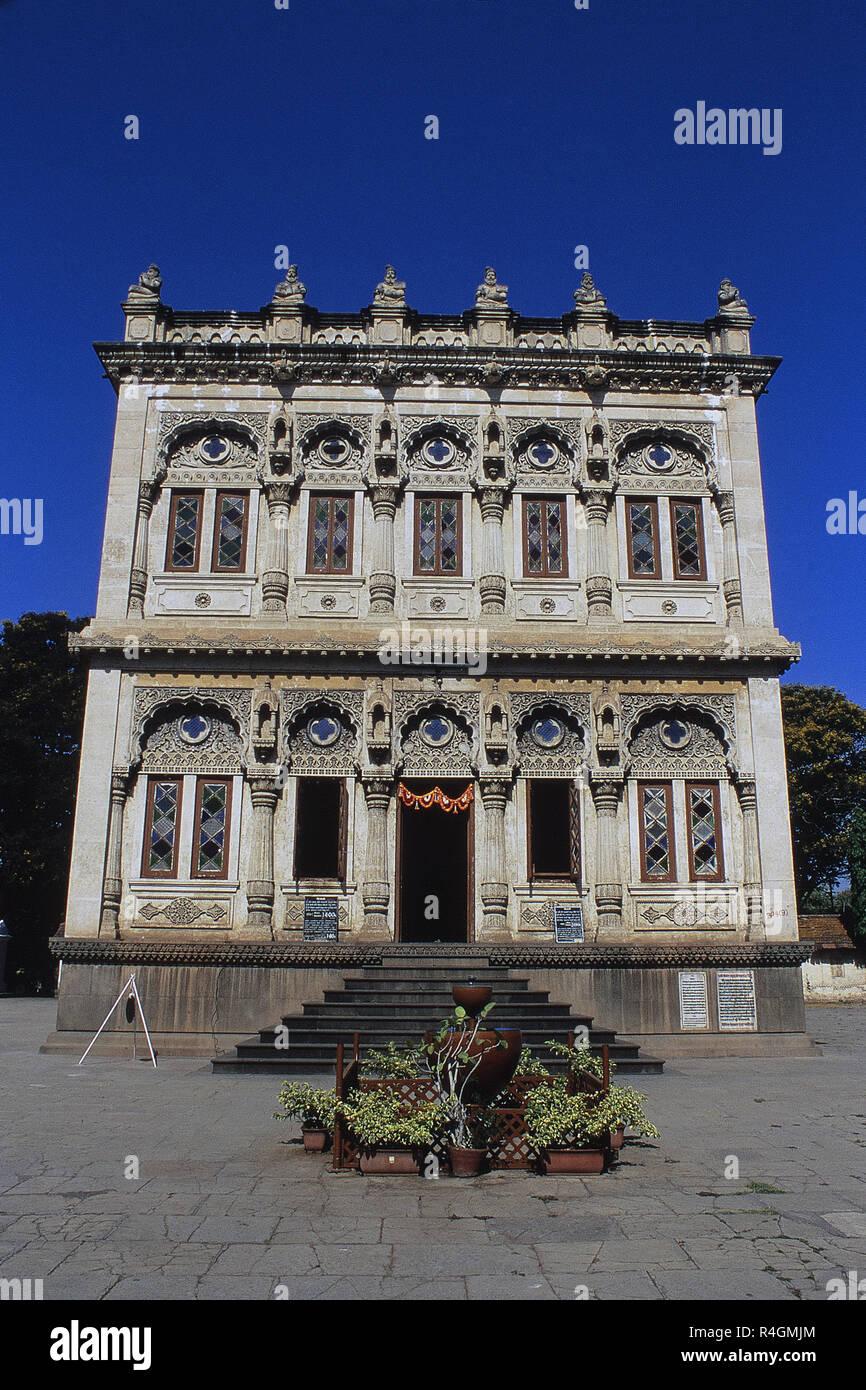 Facade of imposing edifice Shinde Chhatri, Wanawadi, Pune, Maharashtra, India, Asia - Stock Image
