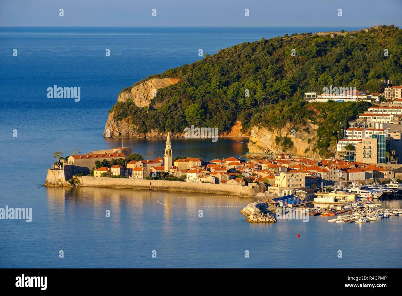 Old Town, Budva, Adriatic Coast, Montenegro - Stock Image