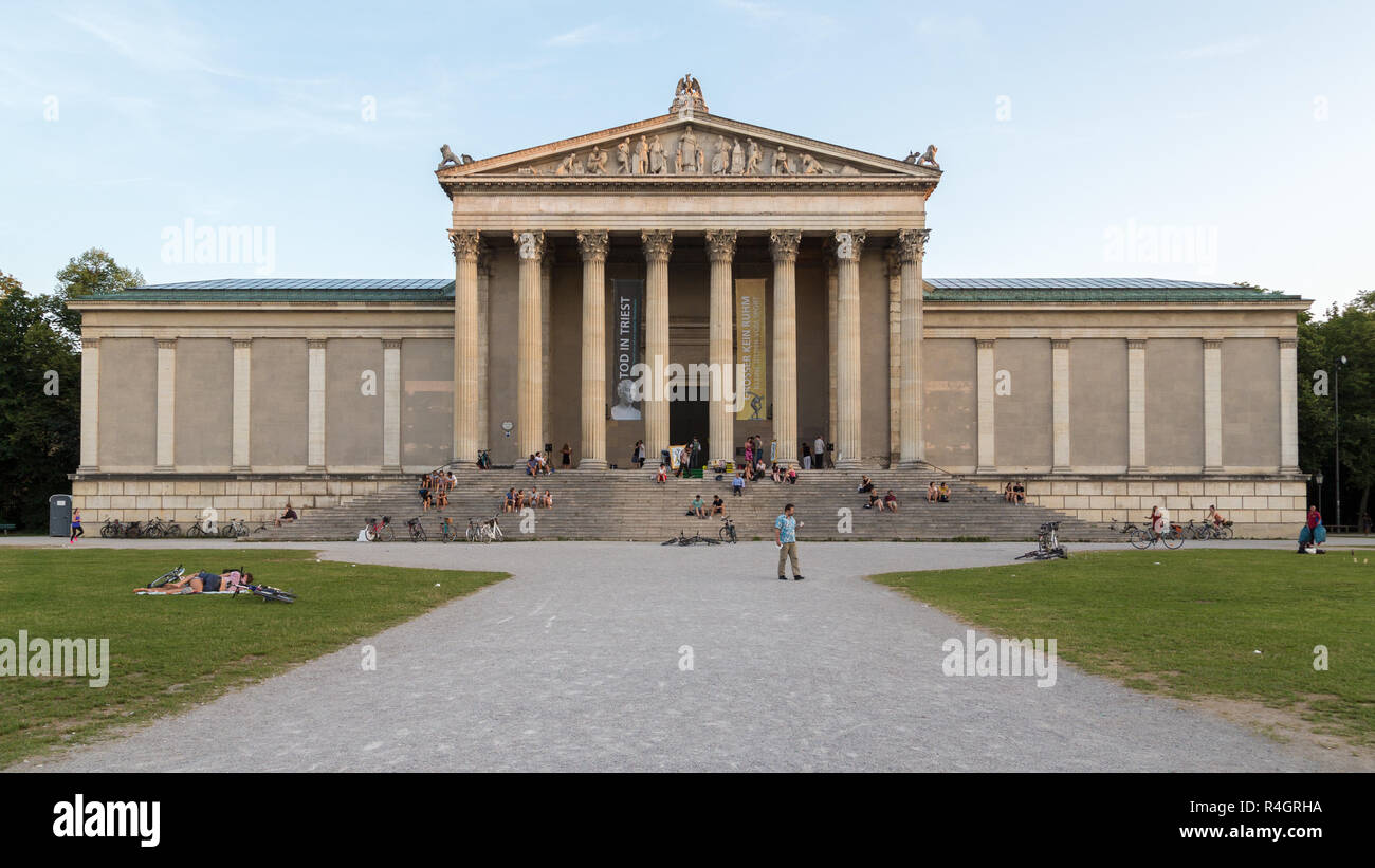 State Collections of Classical Antiquities, Museum of Ancient Cabaret, Königsplatz, Munich, Upper Bavaria, Bavaria, Germany - Stock Image