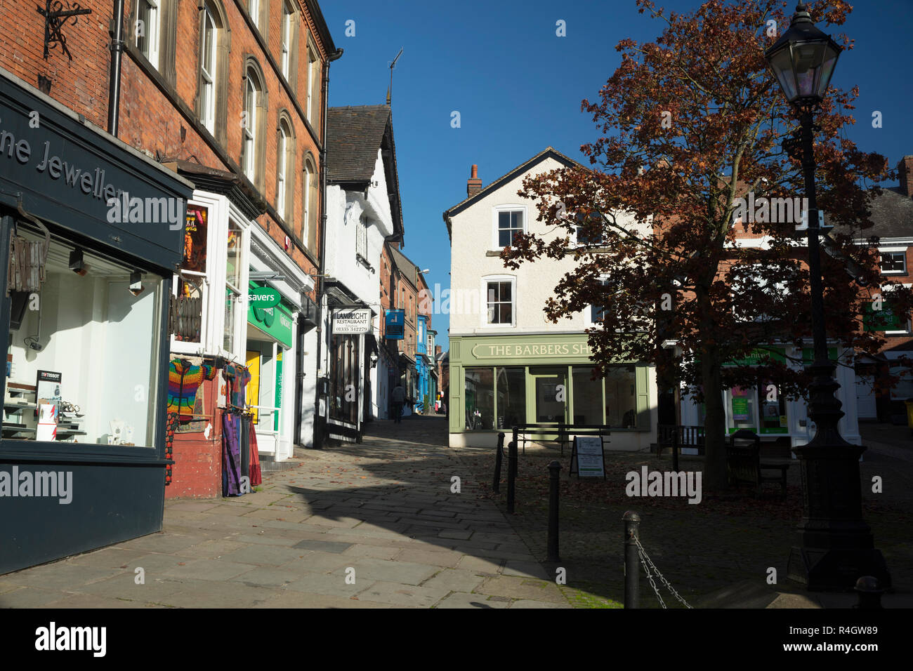 Ashbourne, Derbyshire, UK: October 2018: Victoria Square - Stock Image