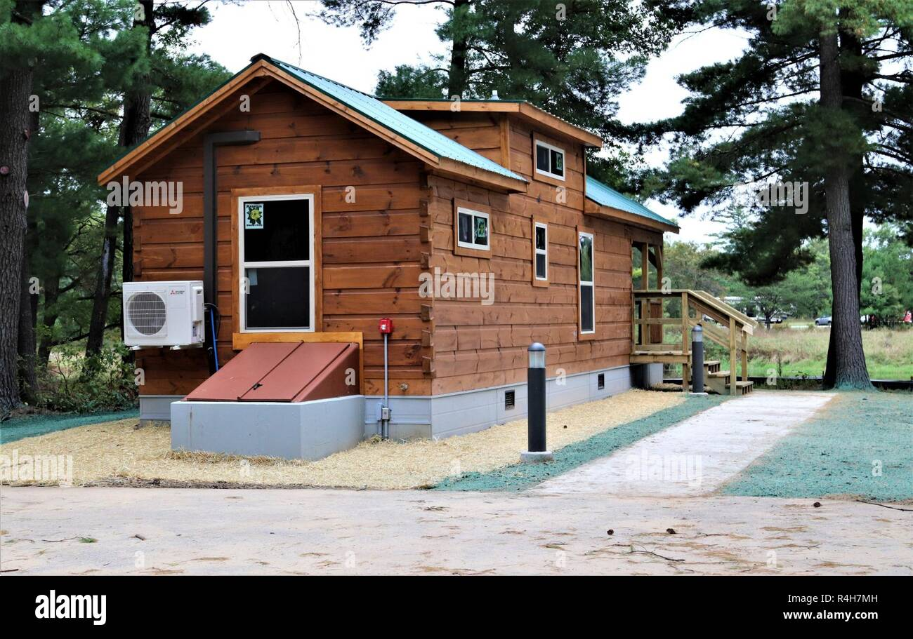 A new cabin is shown Sept  28, 2018, at Pine View Campground