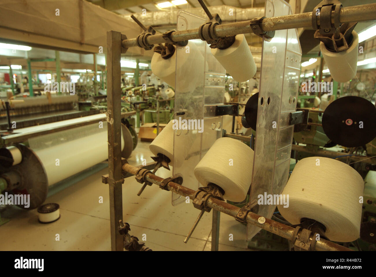 Textile production - Stock Image