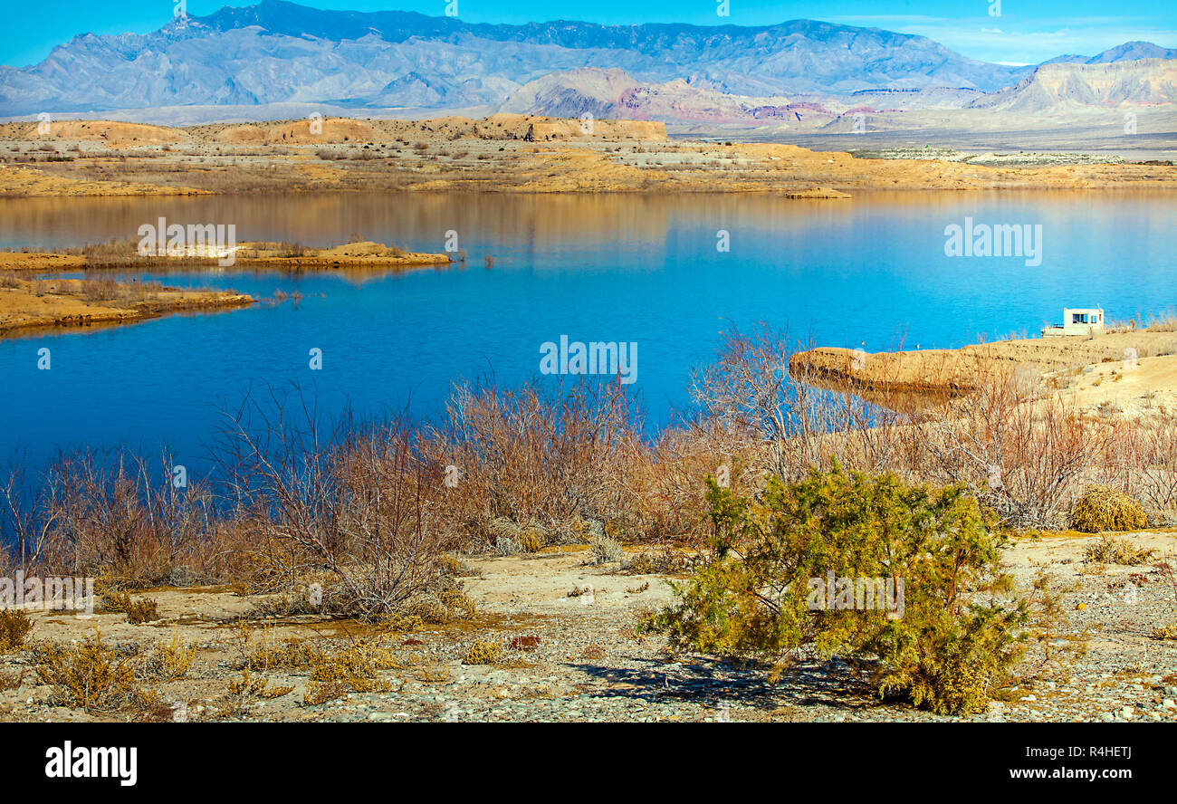 at the lake mead national recreation area in arizona - Stock Image