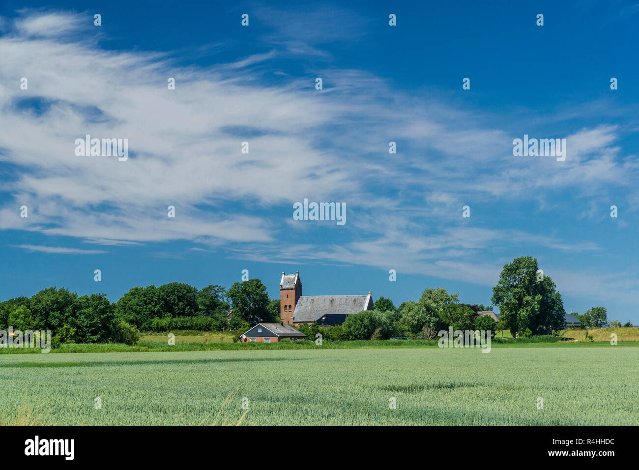 Nordfriesland, Kirchwarft Dageb - Stock Image