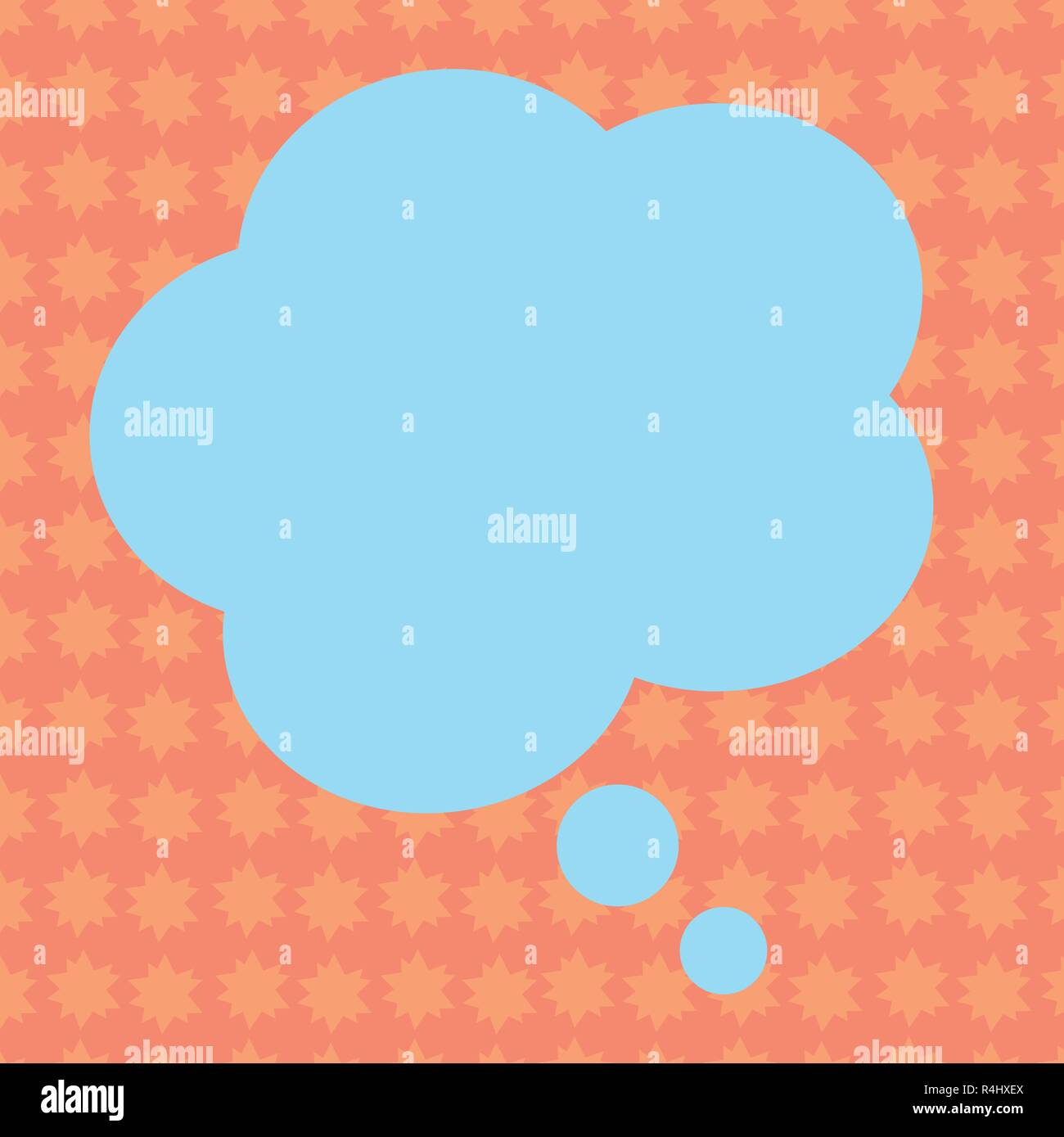 Business concept Empty template copy space isolated Posters coupons promotional material. Blank Color Floral Shape Thought Speech Bubble Vector for Pr - Stock Vector