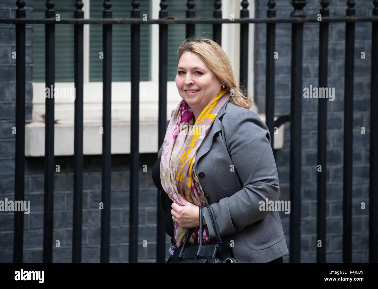 Karen Bradley, Secretary of State for Northern Ireland, at Downing Street for a Cabinet meeting - Stock Image