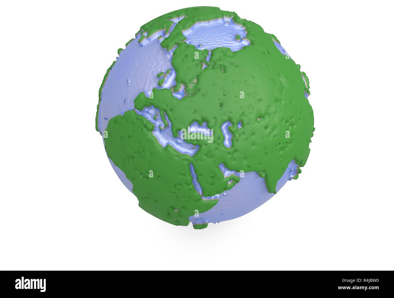 Earth, world map. polygonal globe europe. 3d illustration Stock Photo