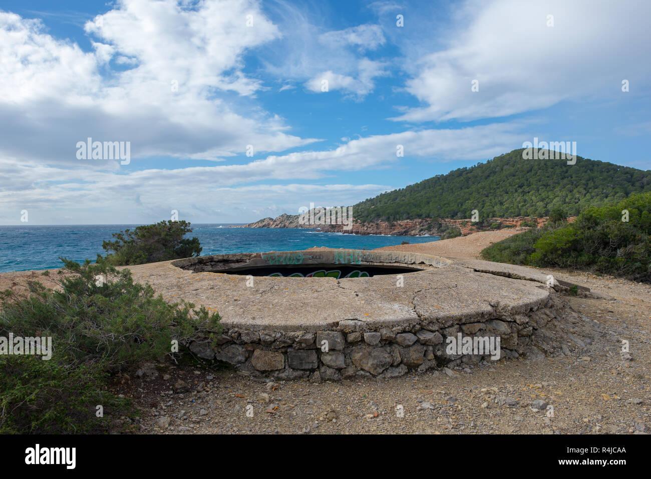 Phoenician settlement in cala sa caleta, Ibiza, Spain - Stock Image