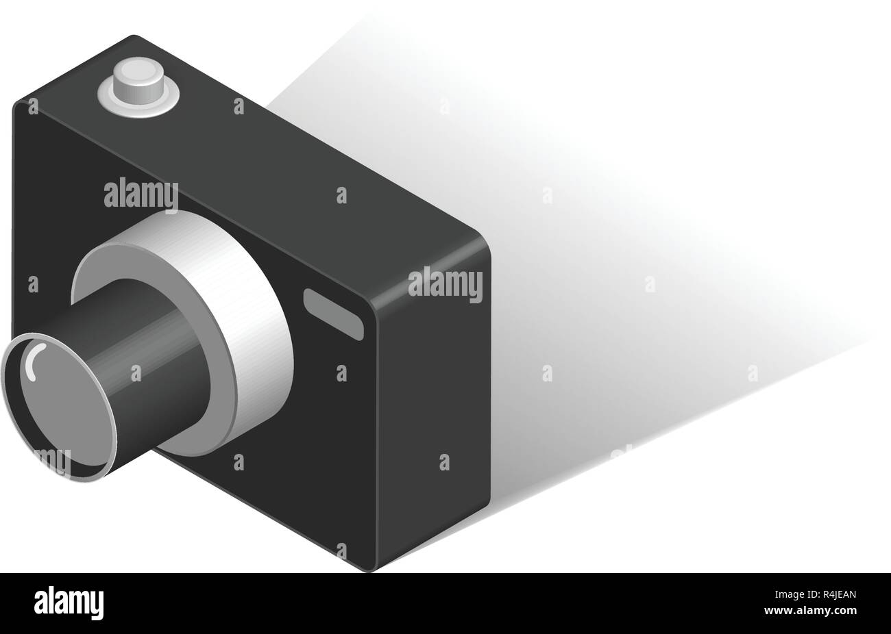 Digital Camera isometric Isolated vector - Stock Vector