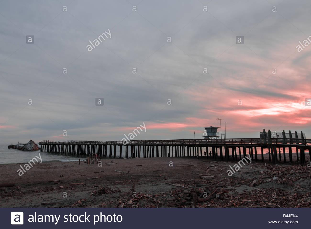 Seacliff State Beach, Aptos, Santa Cruz County, California USA. - Stock Image