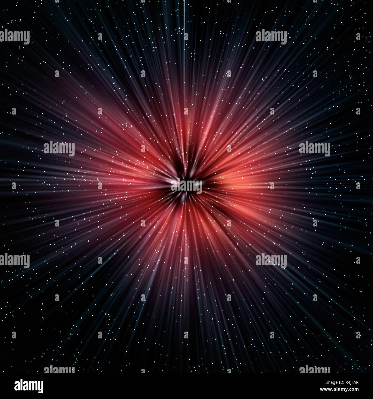 Supernova explosion in Space - Stock Image