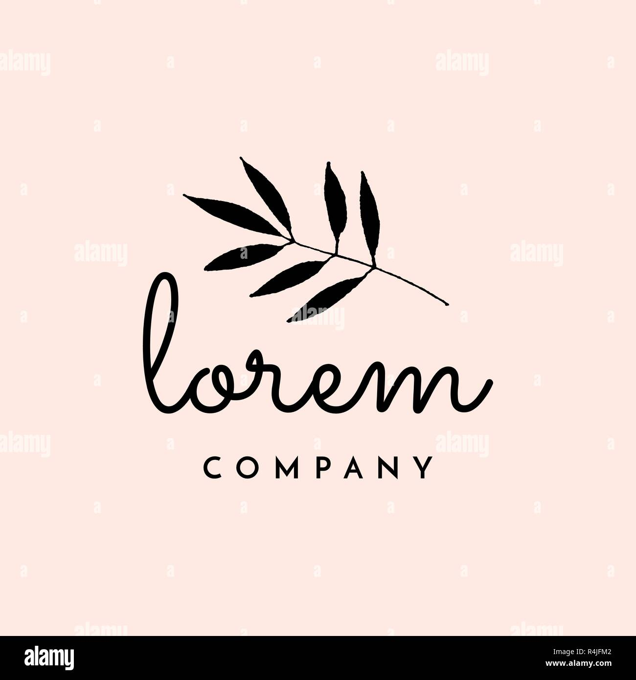 Modern And Elegant Premade Typographic Logo Design For Florists