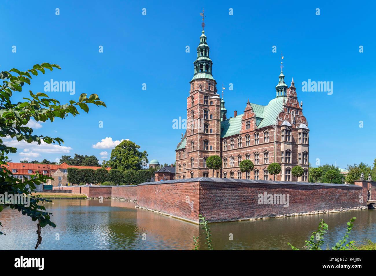 Rosenborg Slot (Rosenborg Castle), Copenhagen, Denmark - Stock Image
