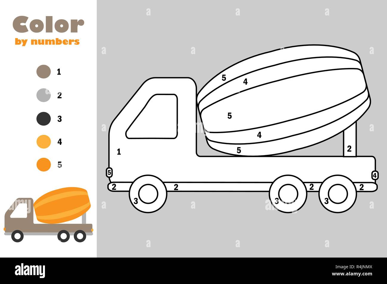 Cement mixer truck Transportation coloring pages ( concrete truck ... | 956x1300