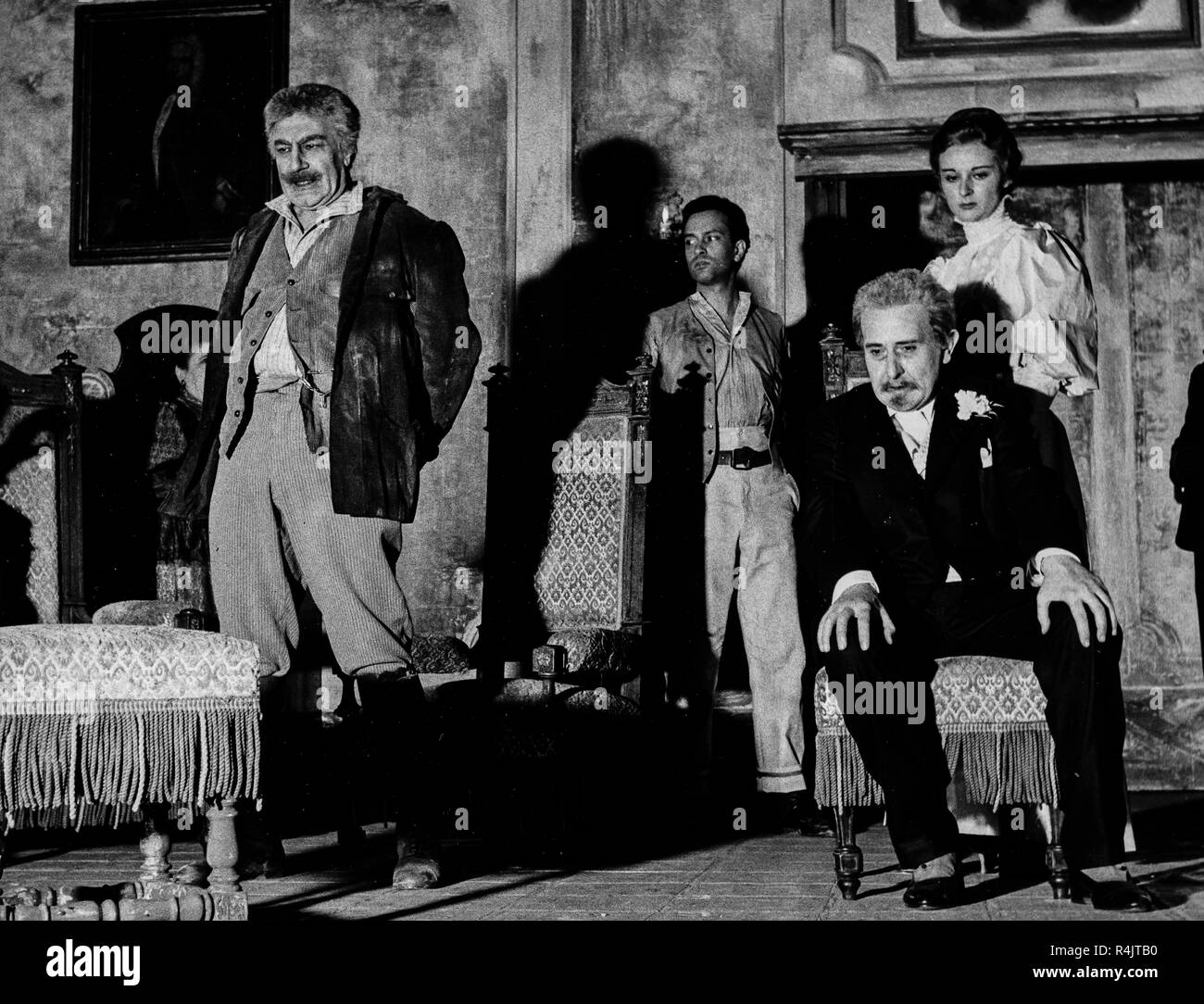 salvo randone, franco graziosi, valentina fortunato, dal tuo al mio, 1956 - Stock Image